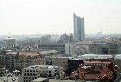Blick über Leipzig Richtung Südosten. Foto: Ralf Julke