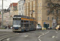 Linie 9 ab Connewitz-Kreuz unterwegs Richtung Markkleeberg. Foto: Ralf Julke