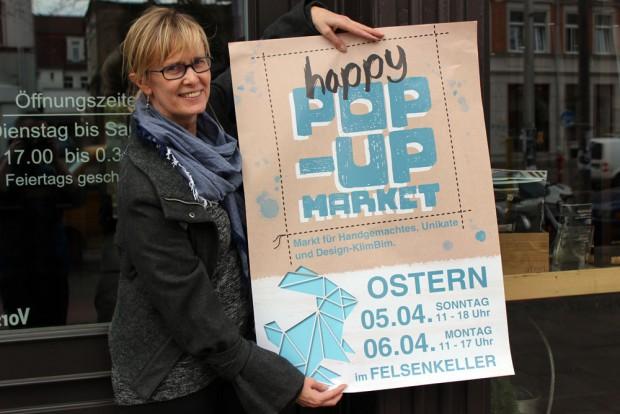 Susanne Mittmann. Ostern steigt der nächste Happy Pop-Up Market. Foto: Volly Tanner