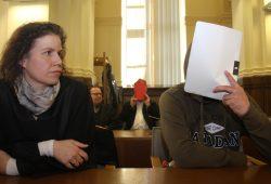 Rechtsanwältin Nadine Lippold, Rechtanwalt Thomas Domanski, Heinz-Dieter D. und Thomas W. Foto: Alexander Böhm