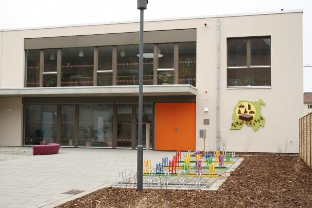 """Die Kindertagesstätte """"Schatzkiste"""" in der Kregelstraße. Foto: Ralf Julke"""