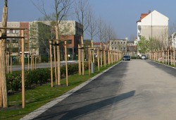 Mitten im Grünen im Rabet gelegen: Schule am Rabet (links). Foto: Ralf Julke