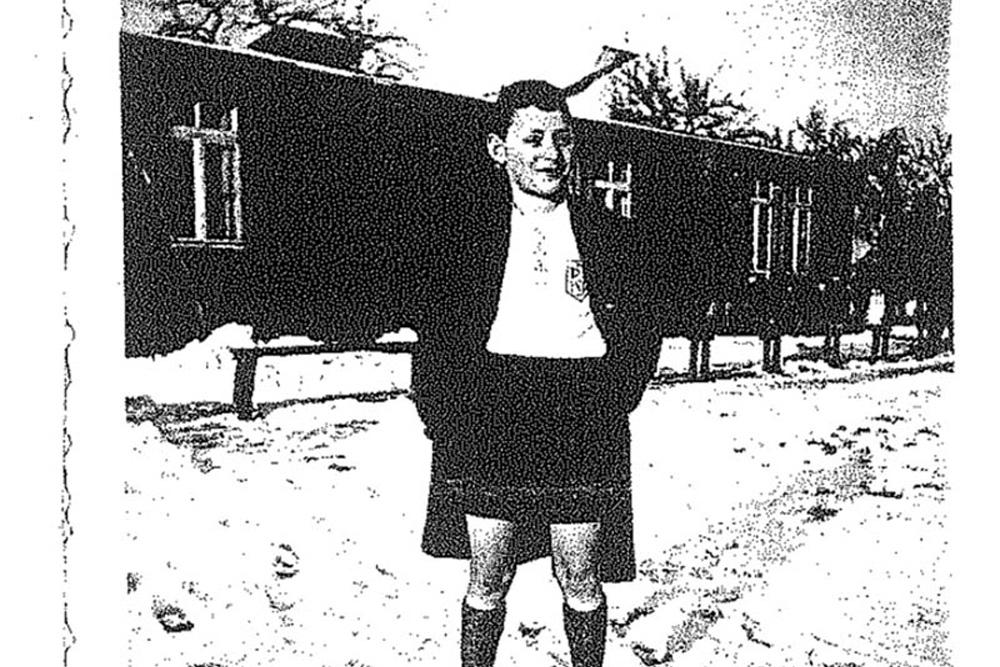 Hans Teutsch im Trikot von Schild Leipzig, 26.12.1935. Foto: privat