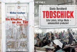 """Buchcover von """"Todschick"""" und """"Ein Klopfen an der Tür""""."""