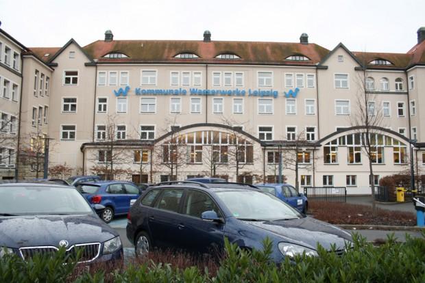 Firmensitz der Wasserwerke Leipzig. Foto: Ralf Julke