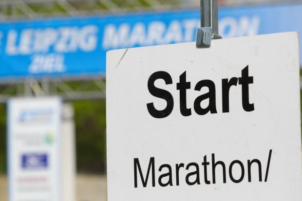 Mehr als 8.000 Sportfreunde sind für die Wettbewerbe des 39. Leipzig Marathon gemeldet. Foto: Jan Kaefer (Archiv)