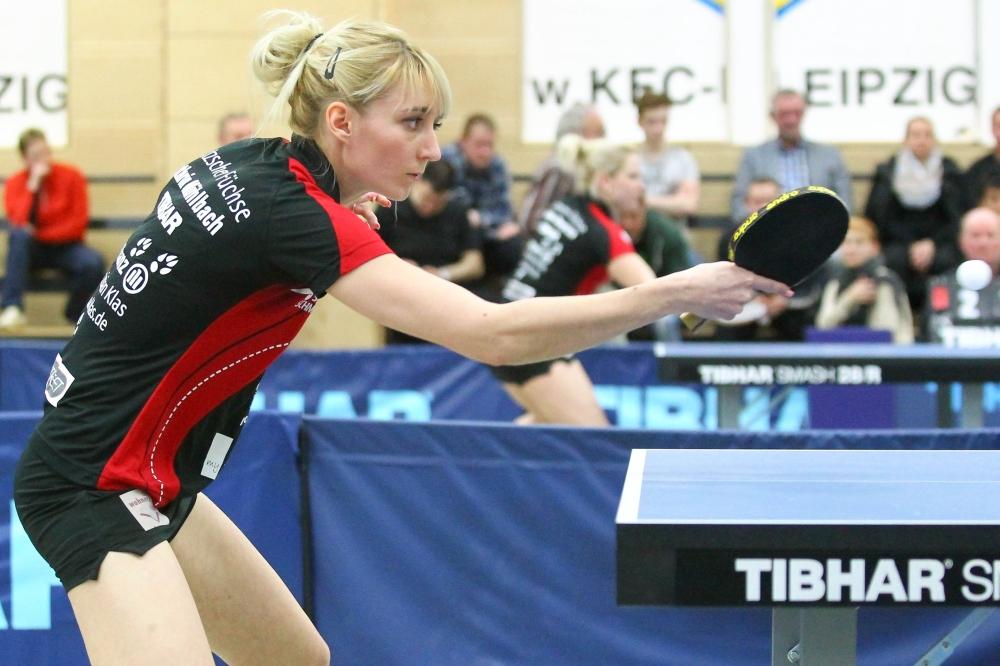 Kathrin Mühlbach (Foto vorherigen Heimspiel) verlor gegen Wenling Tan-Monfardini ein Schlüsselspiel. Foto: Jan Kaefer