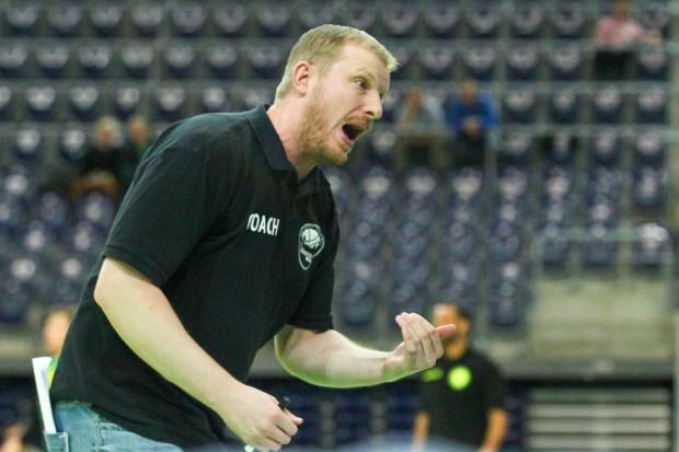 Uni-Riesen-Coach Ty Shaw. Foto: Jan Kaefer