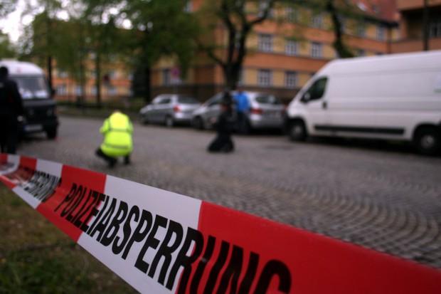 Abgesperrter Tatort. Foto: Alexander Böhm
