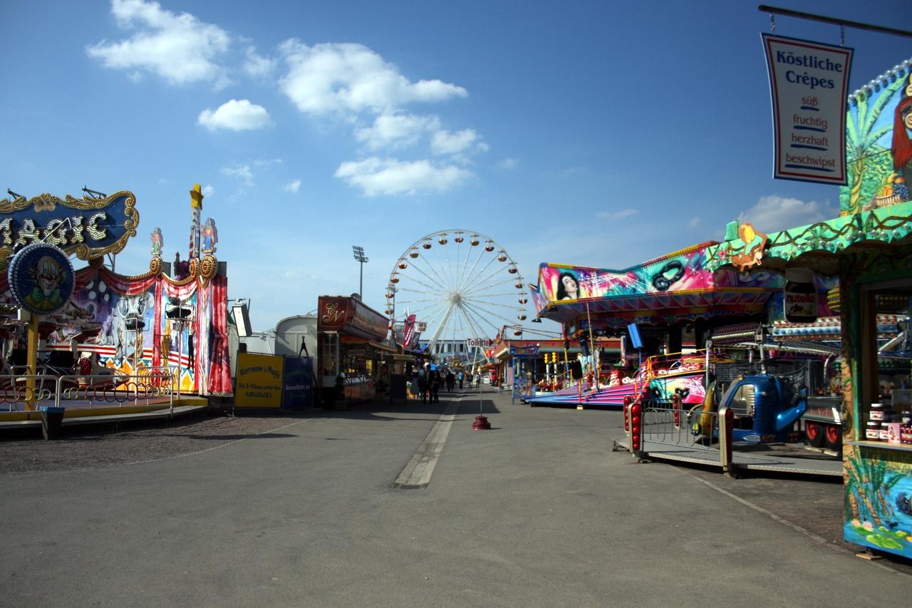 Noch hat die Leipziger Kleinmesse ihren Spielplatz am Cottaweg. Foto: Alexander Böhm