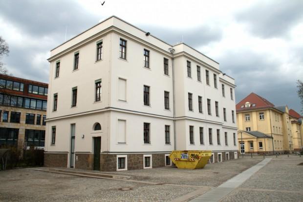 Das sanierte Verwaltungsgebäude des BFW an der Georg-Schumann-Straße. Foto: Ralf Julke