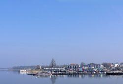 Blick zum Pier 1 am Cospudener See. Foto: Marko Hofmann
