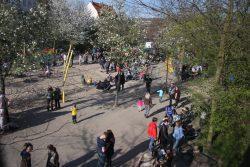 Der gut besuchte Herderpark. Foto: Sandra Hähle