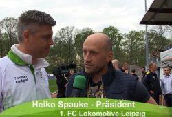 Lok-Präsident Heiko Spauke legte nach dem 0:0 gegen RB Leipzig II noch mal nach. Bild: Screen Video Heimspiel TV