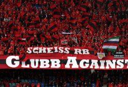 Anti-RB Leipzig Transparente. Foto: L-IZ.de