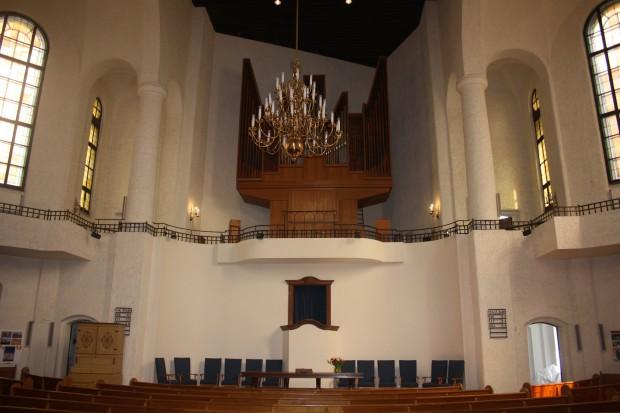 Reformierte Kirche. Innenraum. Foto: Ernst-Ulrich Kneitschel