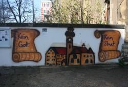 Wandmalerei im Dialog. Foto: Ernst-Ulrich Kneitschel