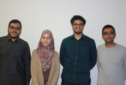 Vertreter des Teams der Muslimischen Hochschulgemeinde Leipzig. Foto: Ernst-Ulrich Kneitschel