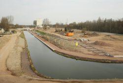 Das ausgebaute Kanalstück Richtung Lindenauer Hafen. Foto: Ralf Julke