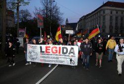 Legida auf dem Ring in Leipzig. Foto: L-IZ