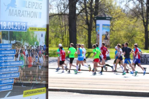Insgesamt 9.057 Teilnehmer waren bei den Veranstaltungen des 39. Leipzig Marathon auf den unterschiedlichen Strecken. Foto: Jan Kaefer