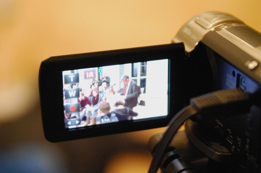 Der Livestream zur Leserkonferenz im Neuen Schauspiel Leipzig. Foto: L-IZ.de