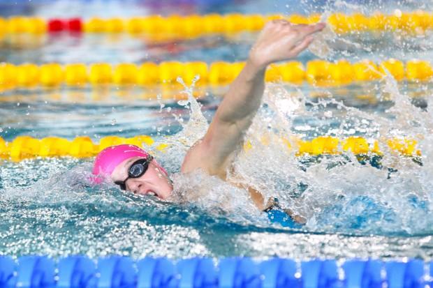 Marie Pietruschka (SSG Leipzig) im Finale über 200 Meter Freistil. Foto: Jan Kaefer