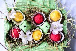 Fruchtiges Kekskonfekt. Foto: Maike Klose