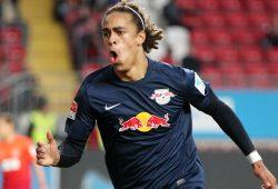 Yussuf Poulsen erzielt seinen 11. Treffer in der 16. Minute. Foto: GEPA Pictures