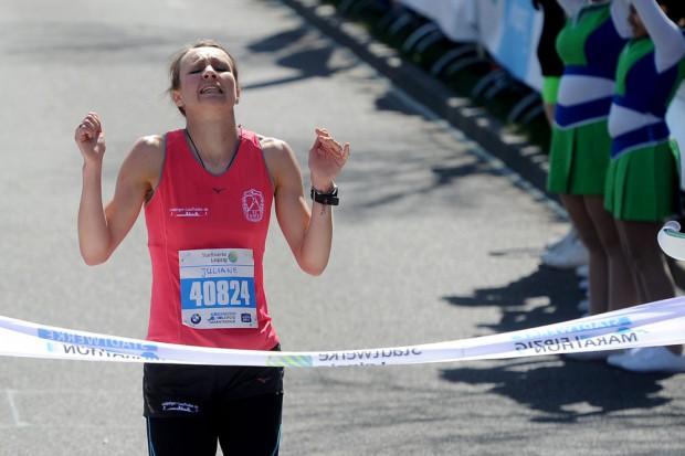 Den Sieg bei den Frauen holte sich Lokalmatadorin Juliane Meyer. Foto: Veranstalter/Norman Rembarz