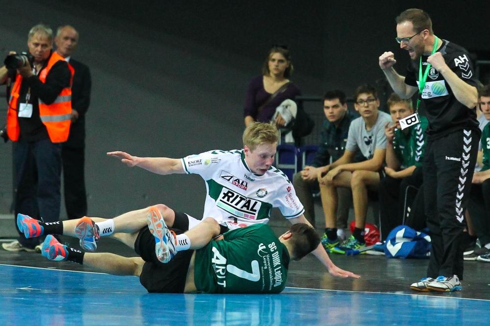 DHfK-Trainer André Haber war schon mal zufriedener mit dem Spiel seiner Jungs. Foto (Archiv): Jan Kaefer