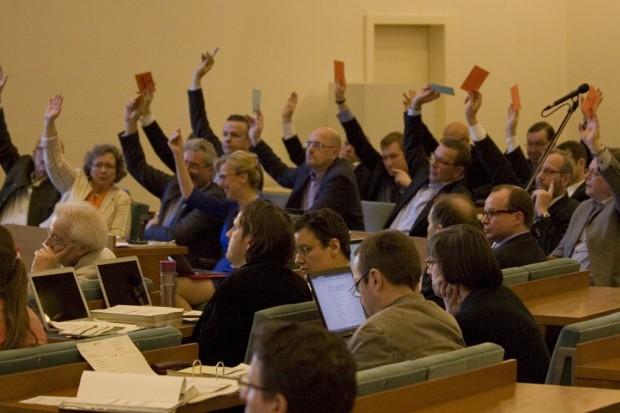 Der Stadtrat Leipzig bei der sichtbaren Arbeit in der Ratsversammlung. Foto: L-IZ.de
