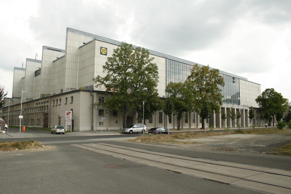Die Messehalle 15 auf dem Gelände der Alten Messe. Foto: Ralf Julke