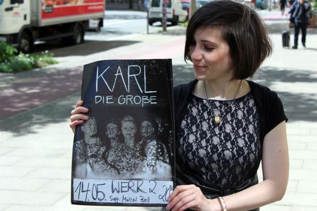 Antonia Hausmann - Posaunistin von Karl die Große & Trio.Diktion. Foto: Volly Tanner