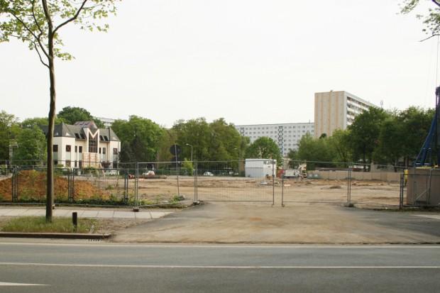 Baustelle für das künftige Gymnasium an der Telemannstraße. Foto: Ralf Julke