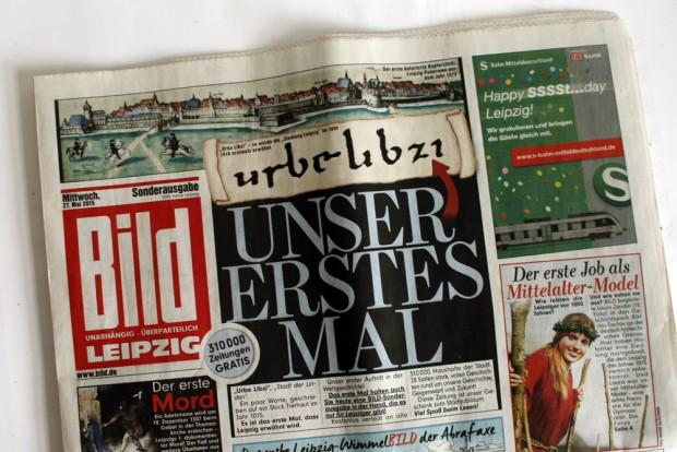 "Geschafft: ""Bild""-Jubiläumsausgabe 1.000 Jahre. Foto: Leo Leu"