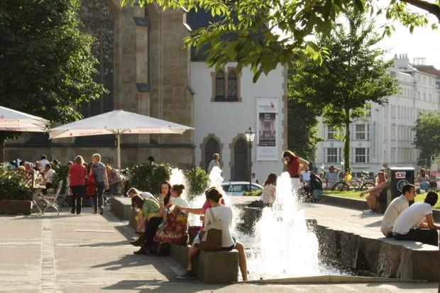 Springbrunnen an der Thomaswiese. Foto: Ralf Julke