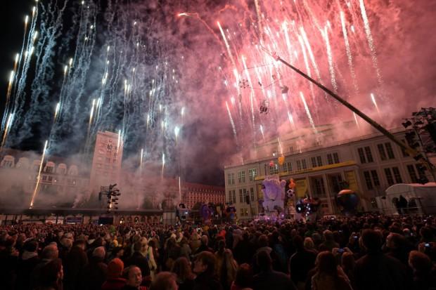 Ohne Feuerwerk keine Party im Osten. Foto: Christian Modla