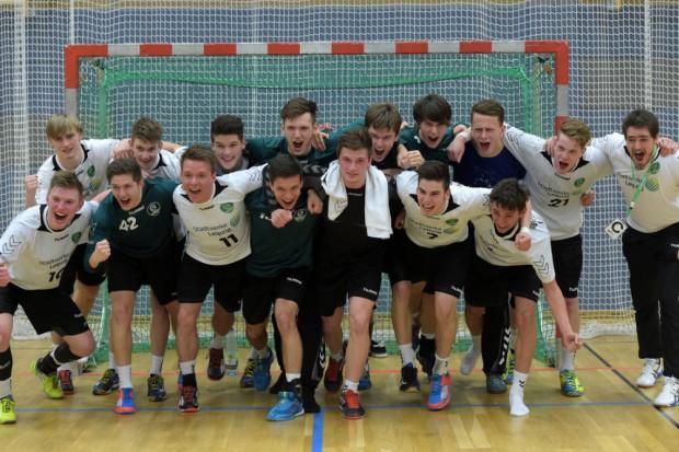Werden die A-Jugend-Handballer des SC DHfK am Pfingstsonntag Deutscher Meister? Foto: Christian Modla