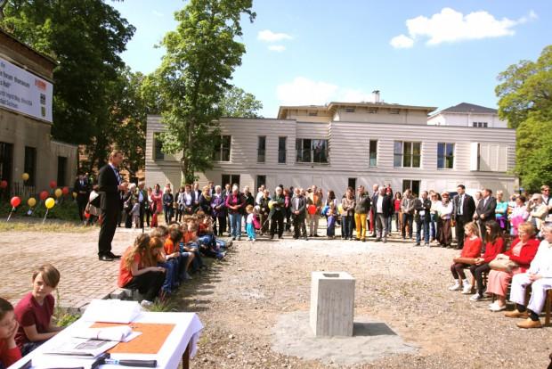 Grundsteinlegung für die Grundschule im forum thomanum. Foto: forum thomanum Leipzig e.V.