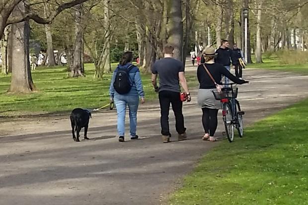 Spaziergang mit Hund im Clara-Zetkin-Park. Foto: Marko Hofmann
