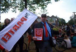 Die Partei beteiligte sich auch. Foto: Alexander Böhm