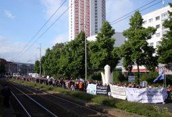 Demonstrationszug am Georgiring. Foto: Alexander Böhm