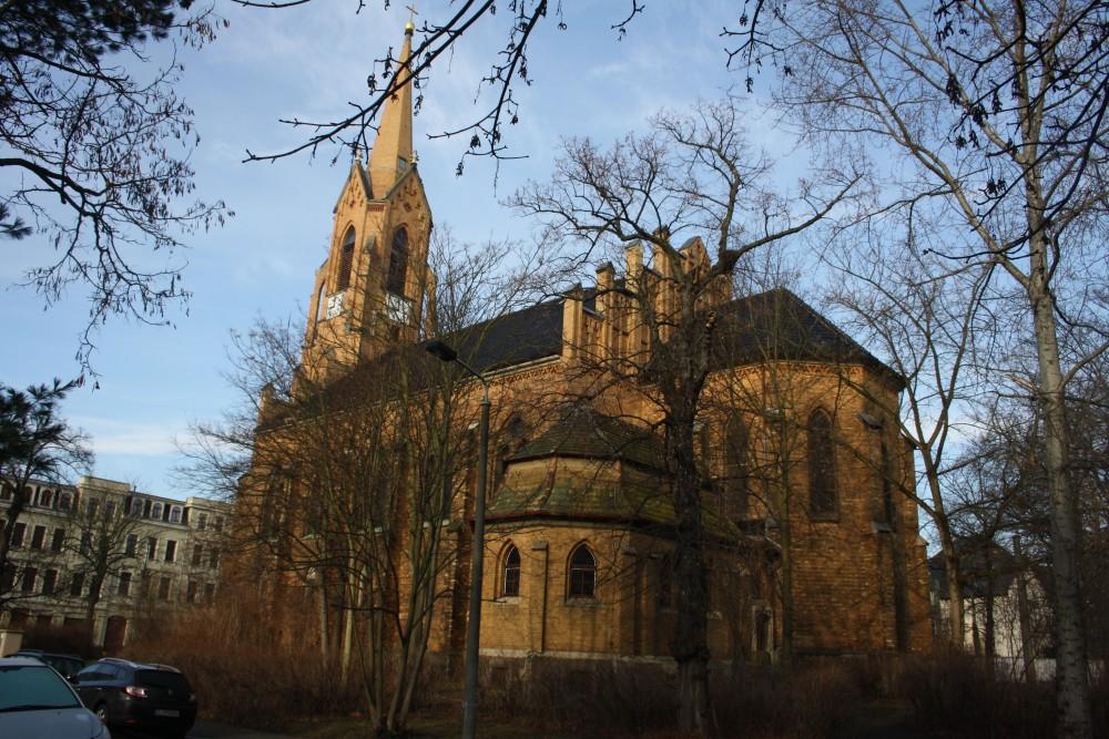 Friedenskirche Leipzig. Foto: Ernst-Ulrich Kneitschel