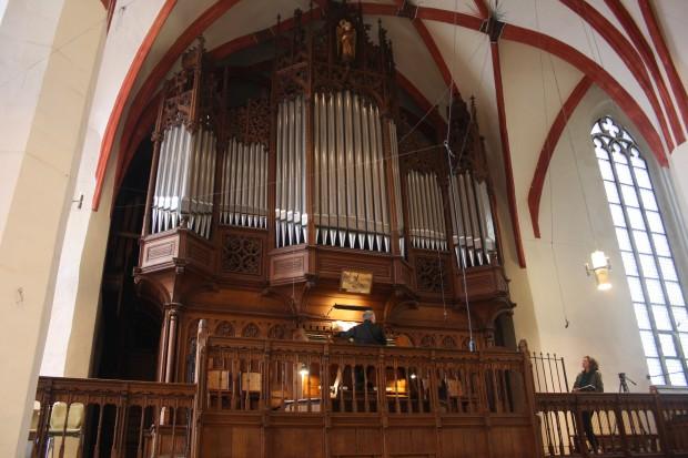 Die Sauer-Orgel in der Thomaskirche. Foto: Ernst-Ulrich Kneitschel