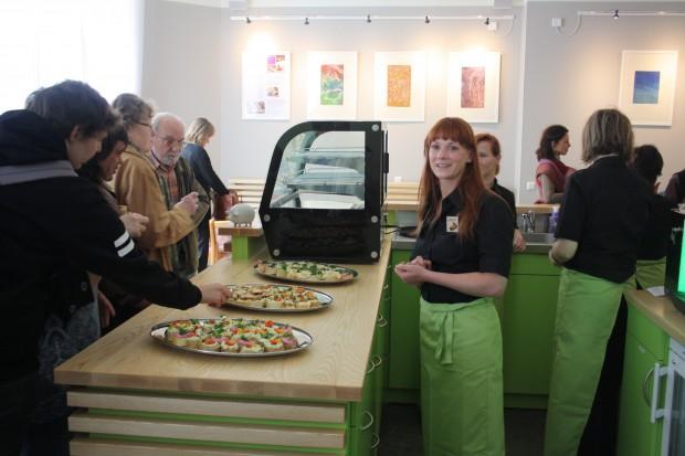 Das neue Lindencafé in Lindenau. Foto: Ernst-Ulrich Kneitschel