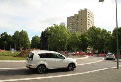 Der Kreisel in der Karl-Tauchnitz-Straße. Foto: Ralf Julke