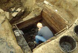 Latrinen werden bei nahezu jeder innerstädtischen Grabung gefunden. Foto: Petra Schug