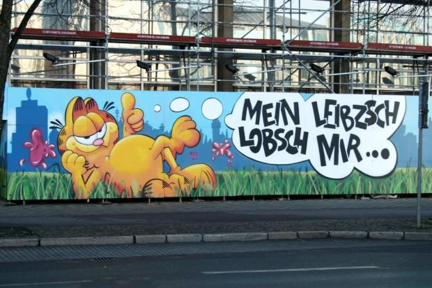 Bauzaungraffiti des Leipziger Graffiti e.V. Foto: Ralf Julke
