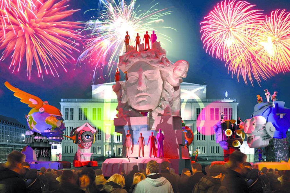 Das Finale mit Lipsia auf dem Augustusplatz. Foto: Fairnet / Jörg Preißinger